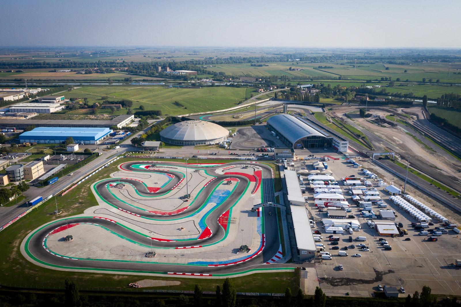Aerial of Adria karting circuit