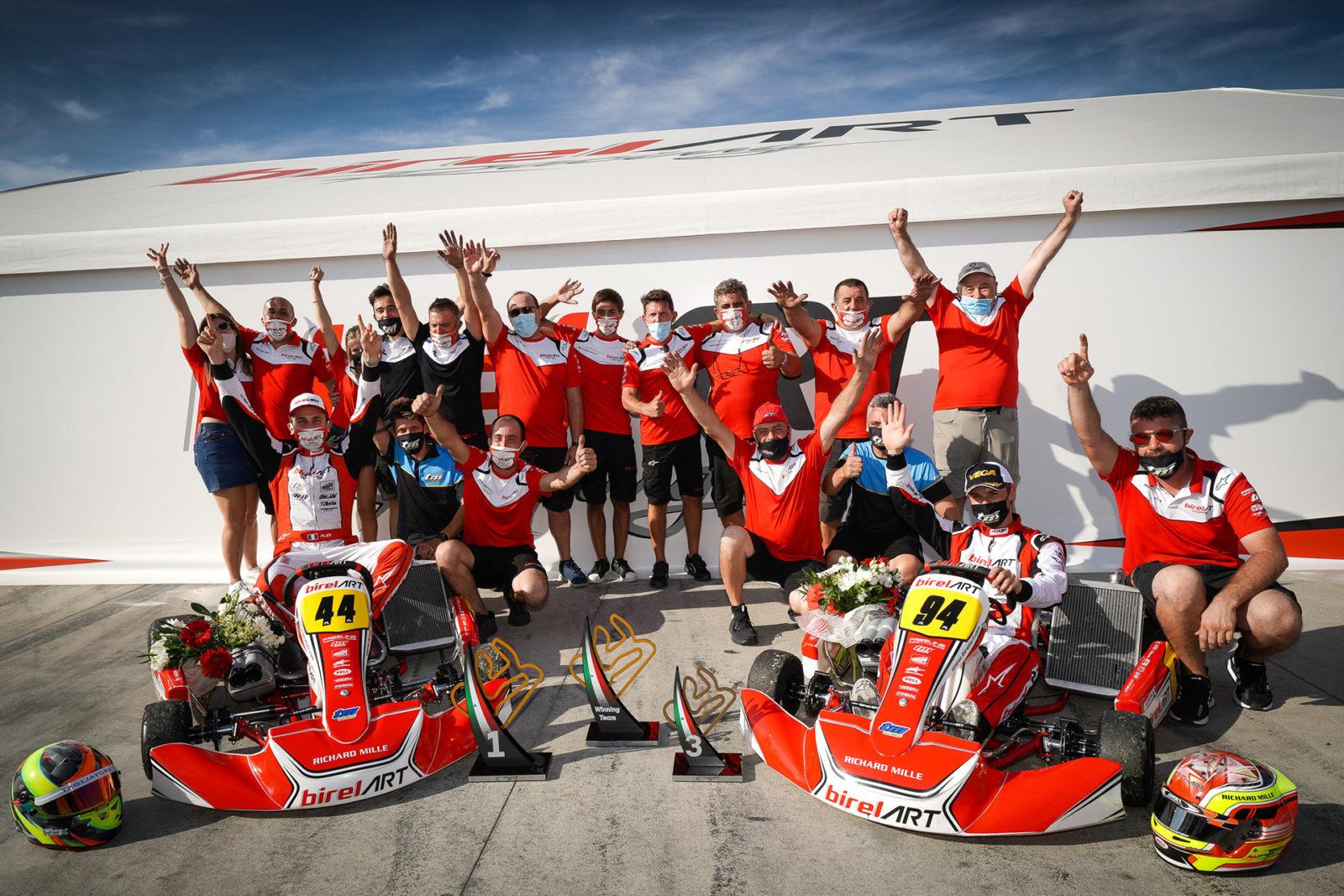 BirelART Factory Racing Team celebrates