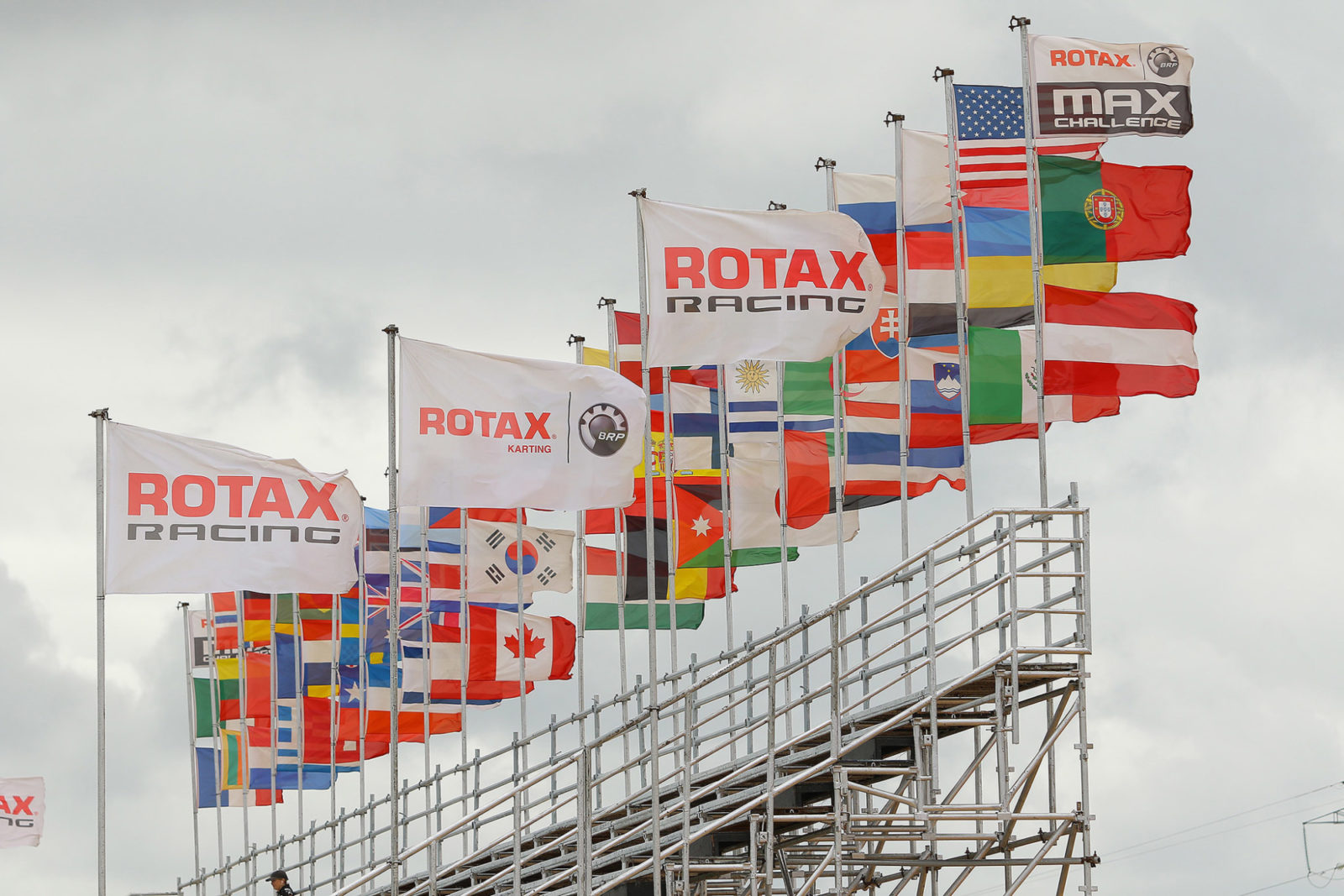 Waving flags at 2018 Rotax MAX Challenge Grand Finals