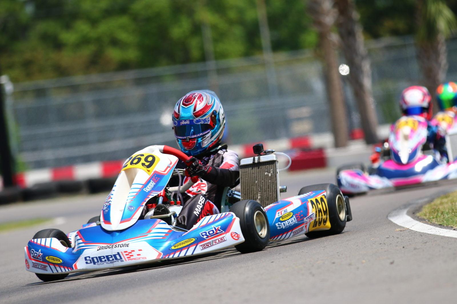Luca Mars leads Dale Curren in Junior ROK