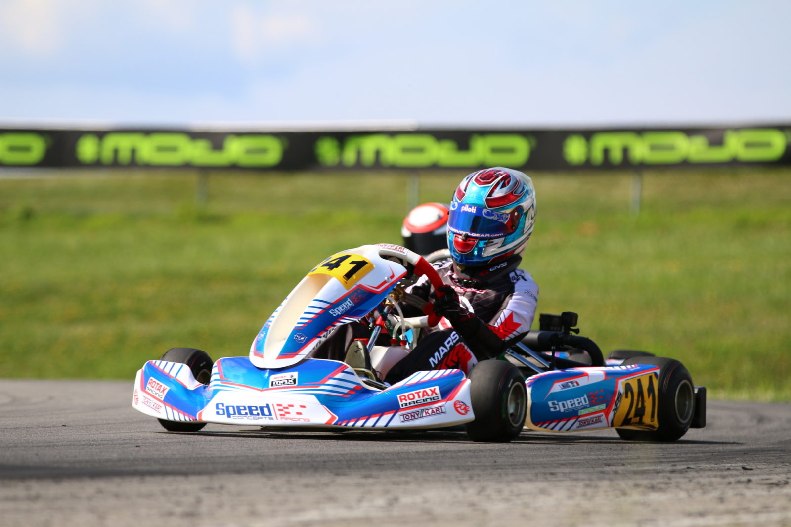 Luca Mars enters turn 3 at pitt international race complex