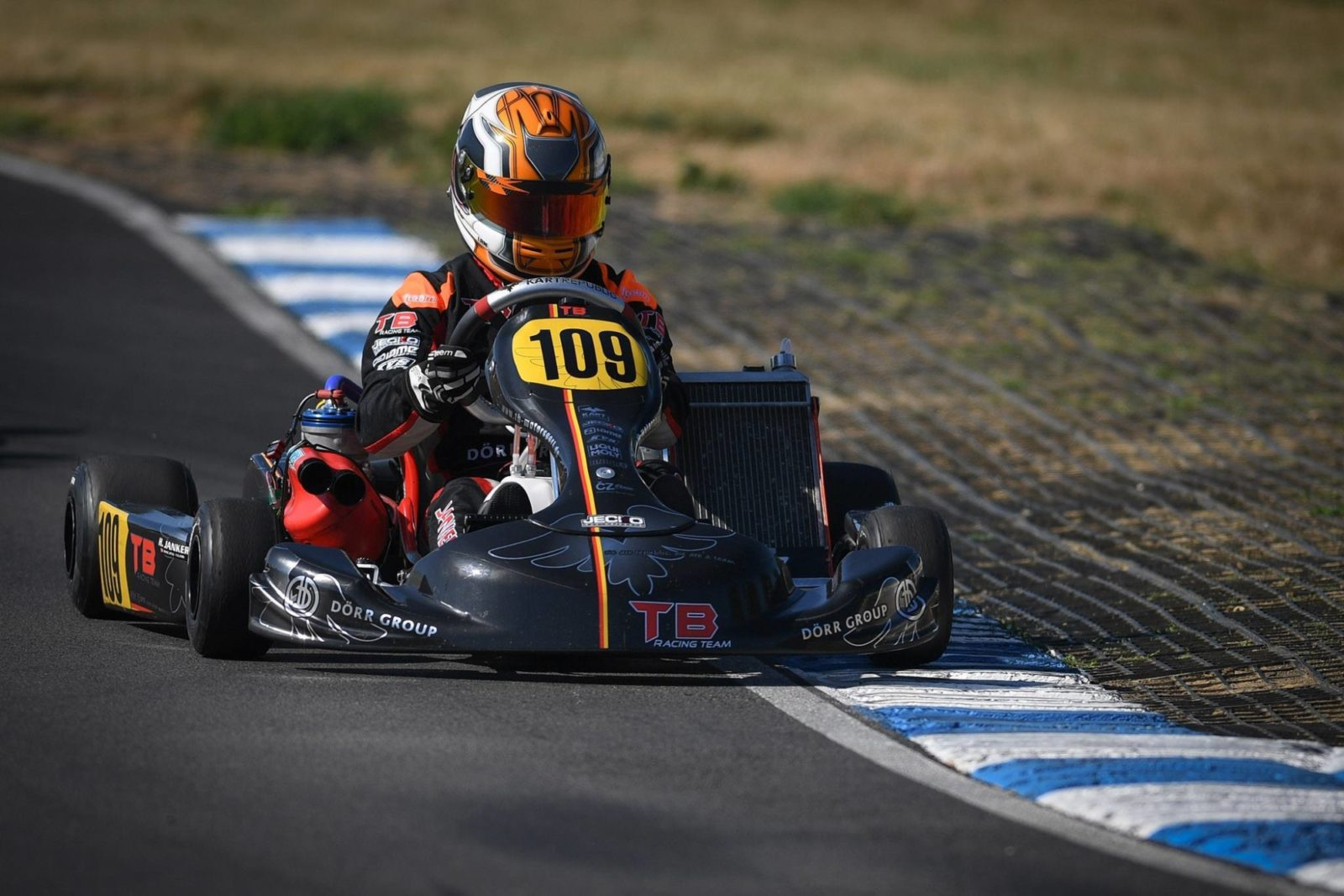 Hannes Janker aboard his Kart Republic machine