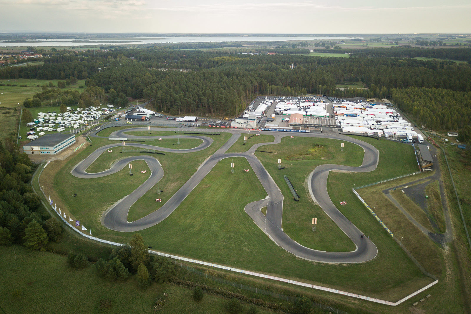 Aerial of the Kristianstad karting circuit