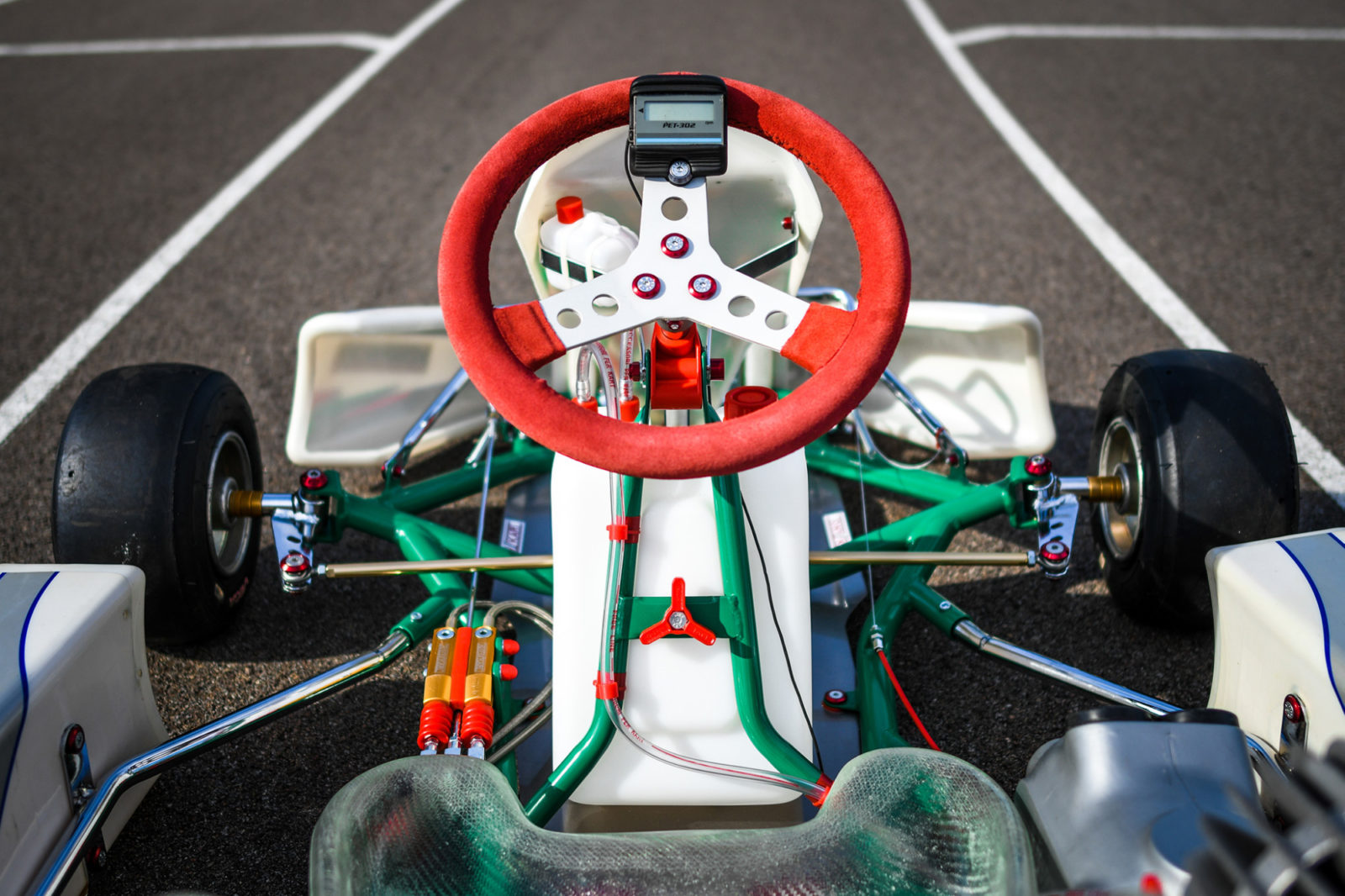 Tony Kart Extreme front-end and steering wheel