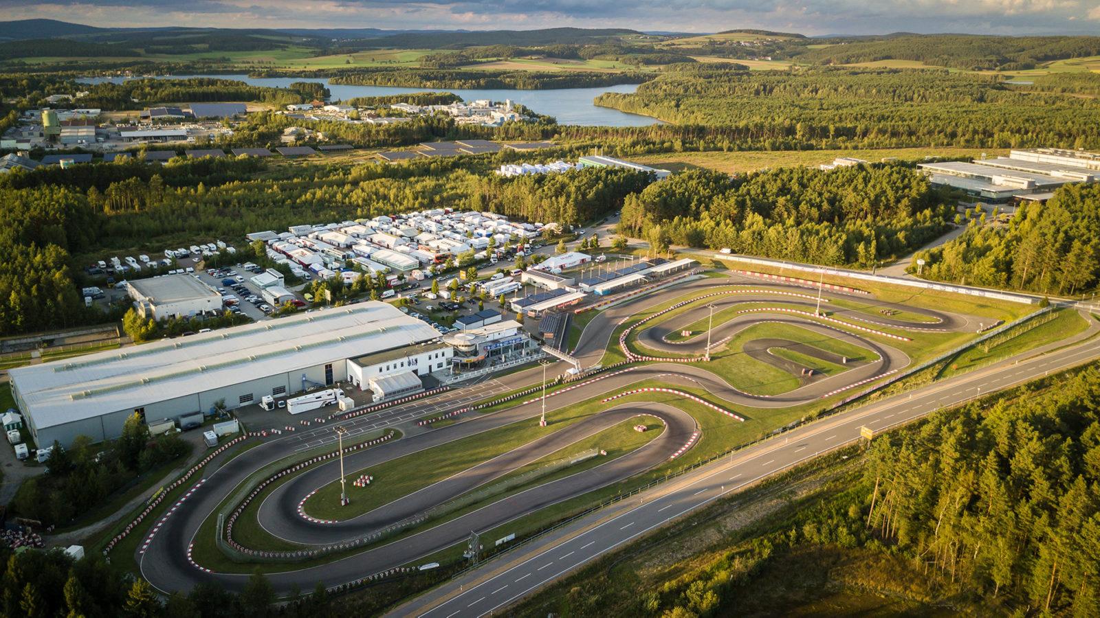 Wackersdorf karting circuit aerial