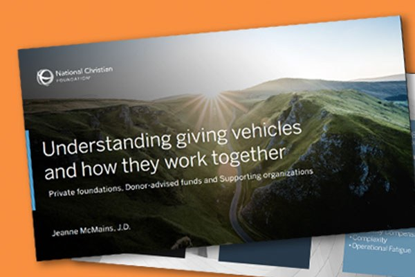 Understanding Giving Vehicles and How They Work Together (pdf)
