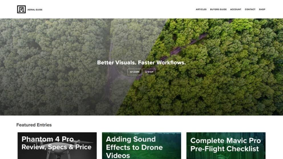 Aerial Guide Launched! Banner Image