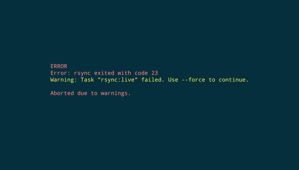 Rsync | Error: rsync exited with code 23 Banner Image