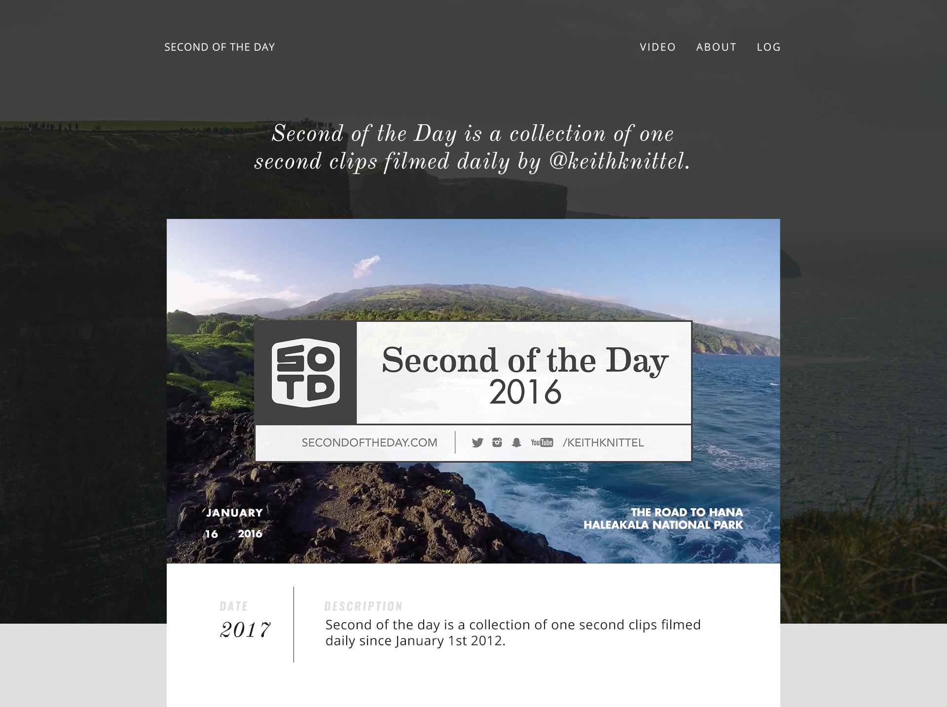 Second of the Day 2017 Visual Design