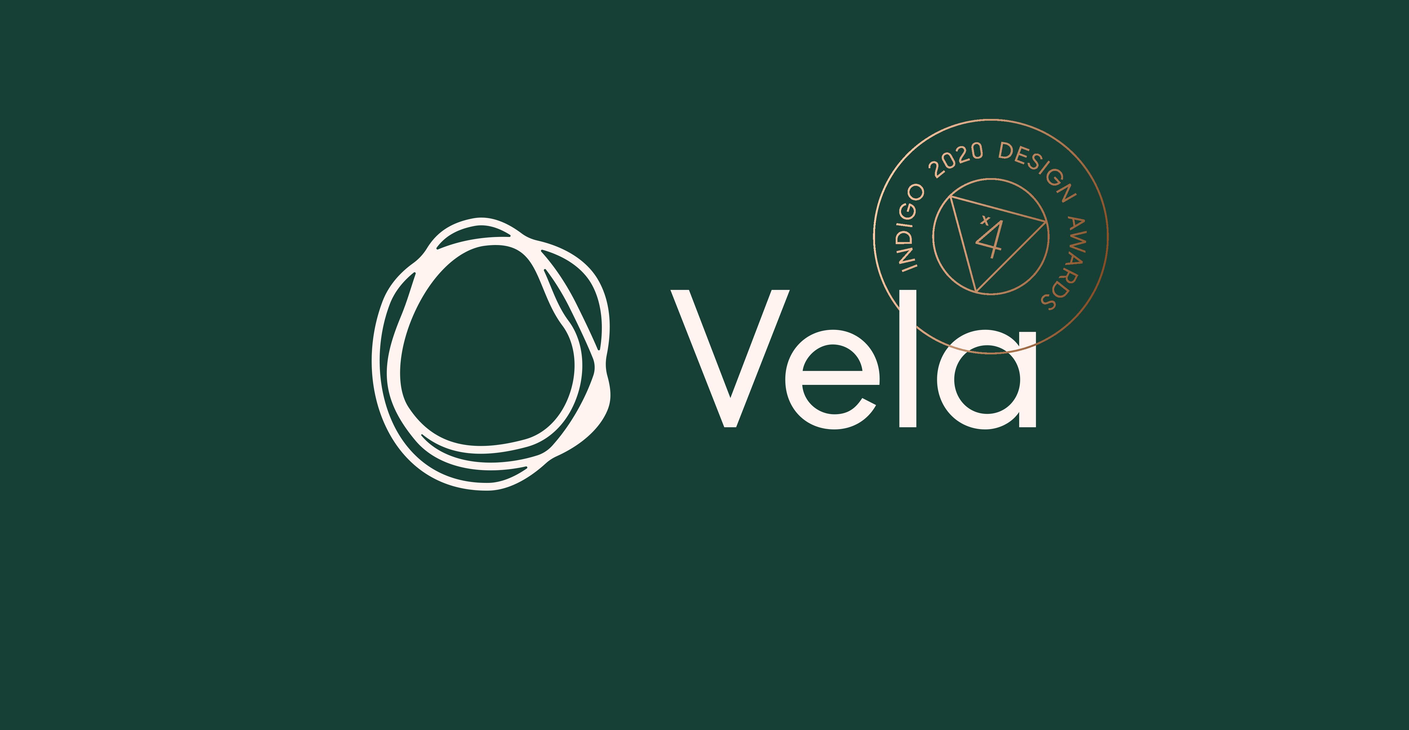 Vela™ Brand Strategy & Identity Wins the Gold at the 2020 Annual Indigo Design Award