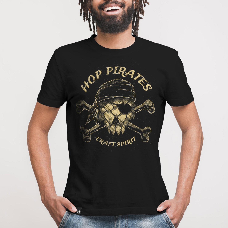 Camiseta Contém Lúpulo HOP PIRATES