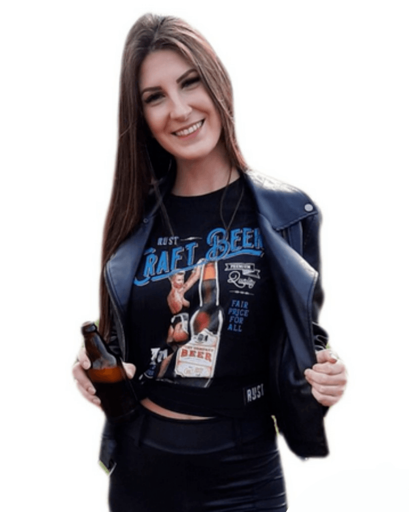 Camiseta RUST Cerveja Artesanal Pin-up - Preta