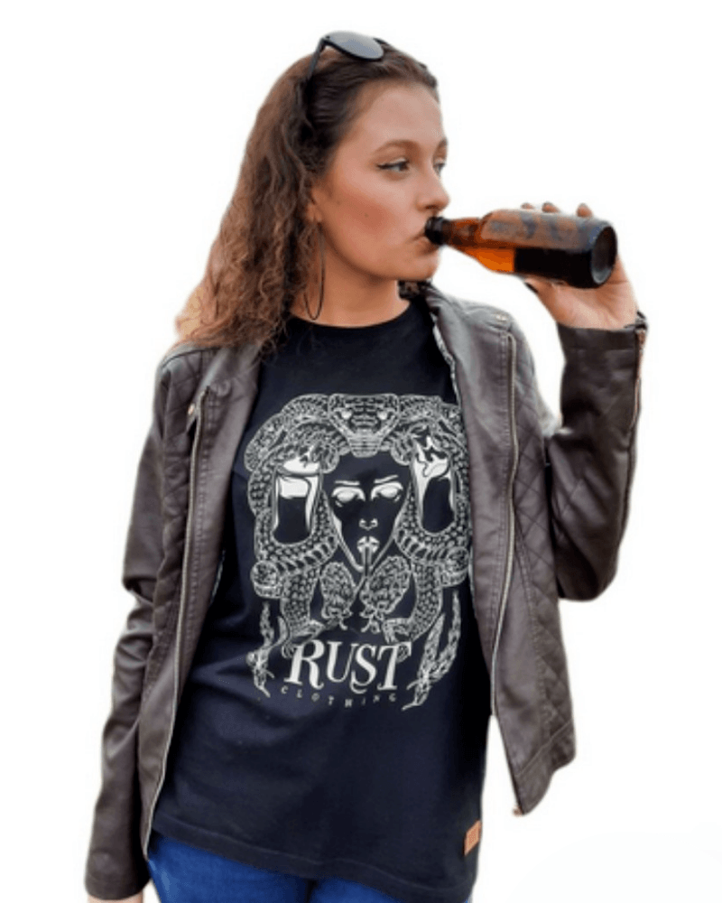 Camiseta RUST Cerveja Medusa - Preta