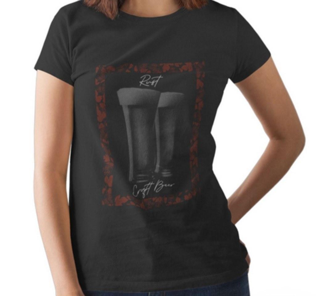 Camiseta RUST Lúpulo Cerveja - Preta