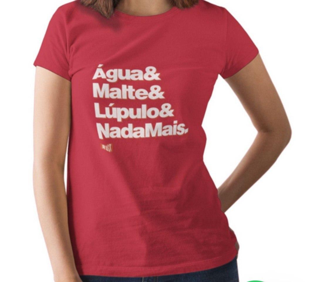 Camiseta RUST Receita Cerveja - Vermelha