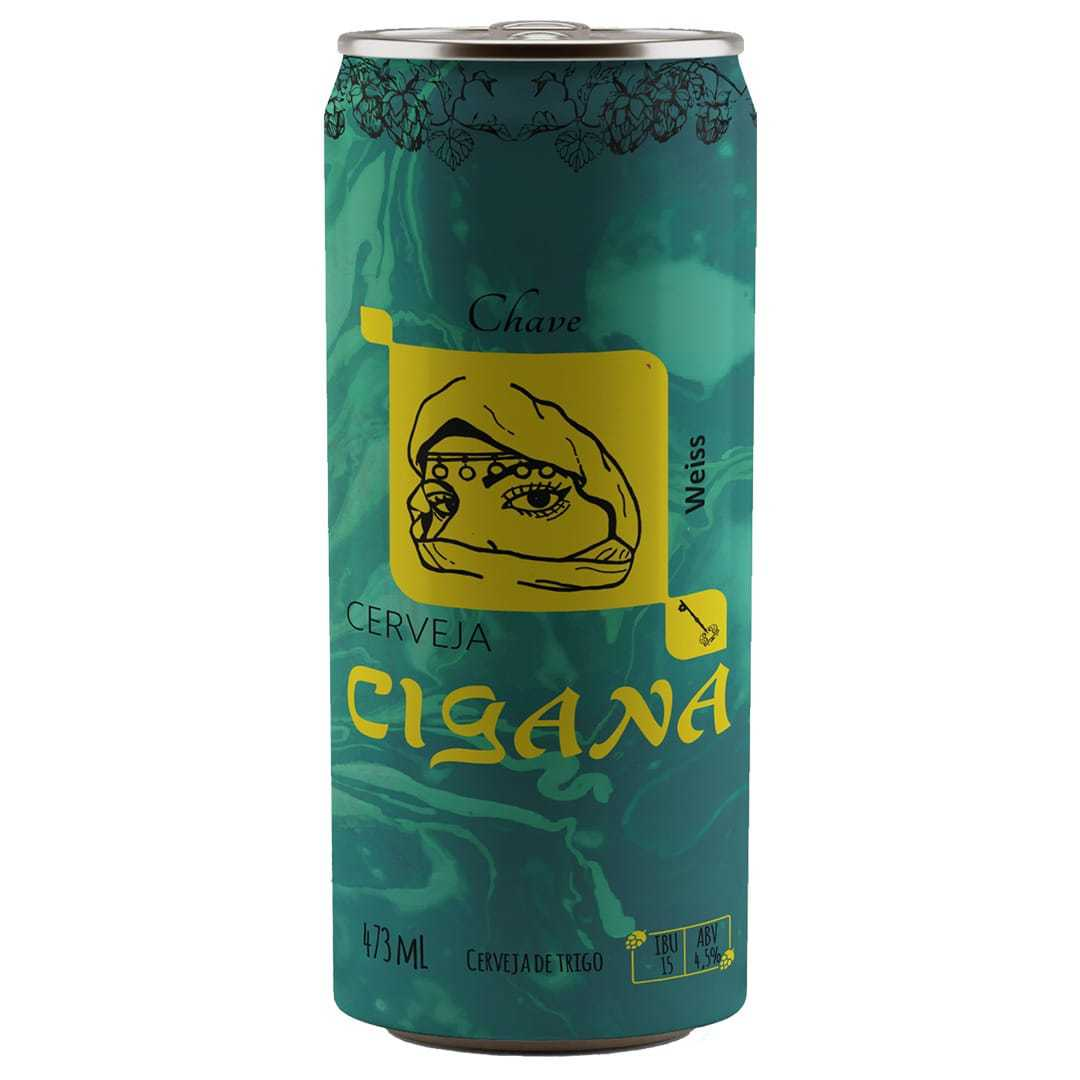 Cerveja Cigana Chave Weiss 473ml