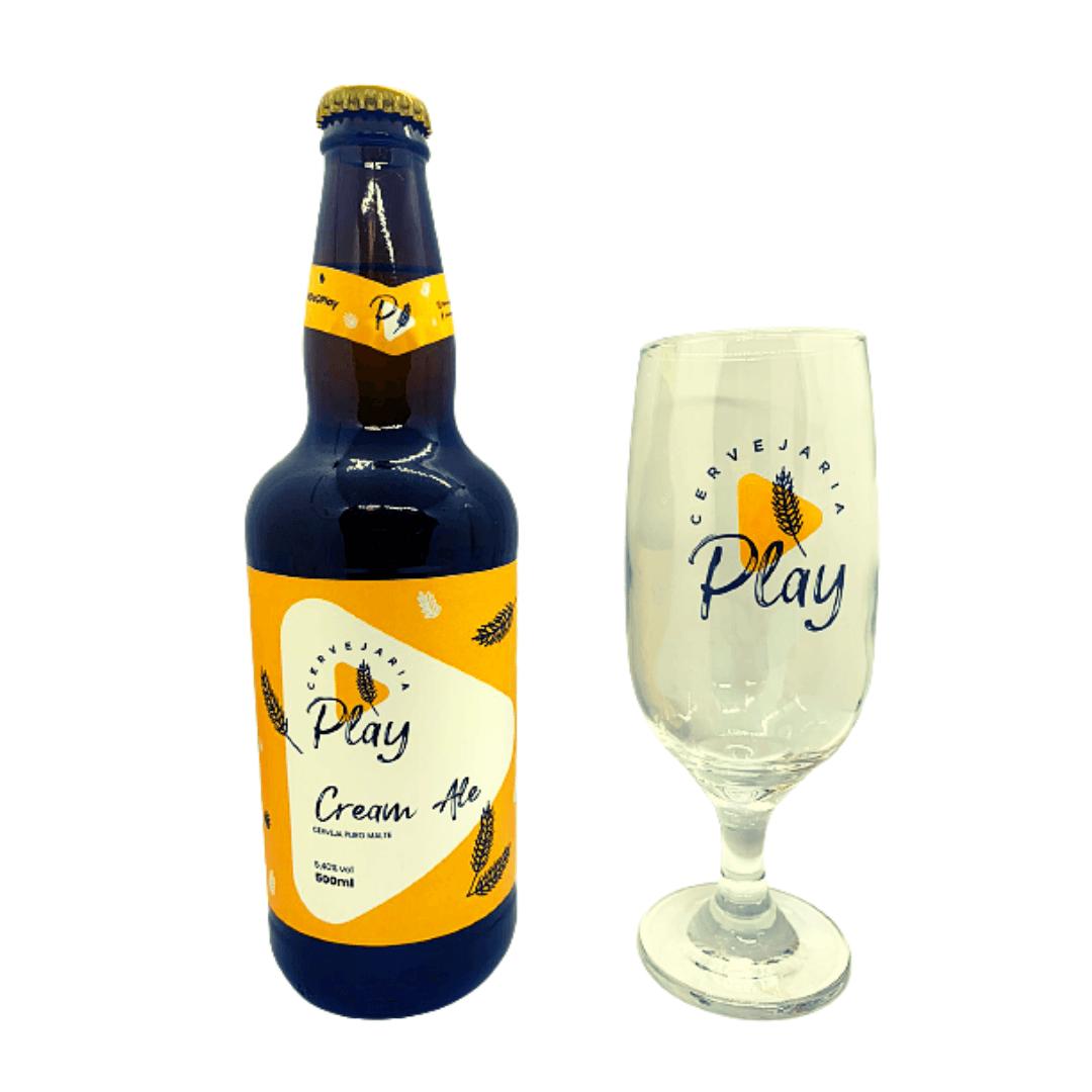 Cerveja Play Cream Ale + Taça