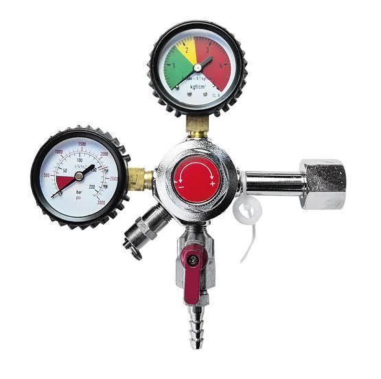Regulador de Pressão 1 Via Manual para CO2