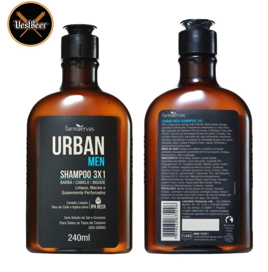 Urban Shampoo 3x1 IPA Beer 240ml VestBeer