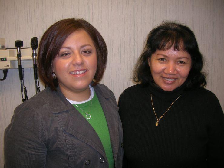 Hispanic Cambodian Arely and Sokia