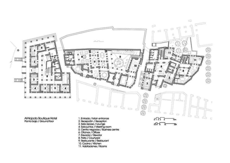 Al Najada Boutique Hotel Ground Floor Plan Archnet