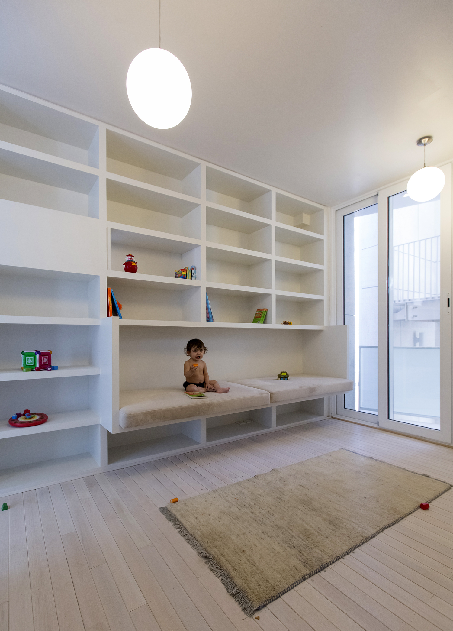 Interior View Of The Kids Bedroom On The Third Floor Illustrating