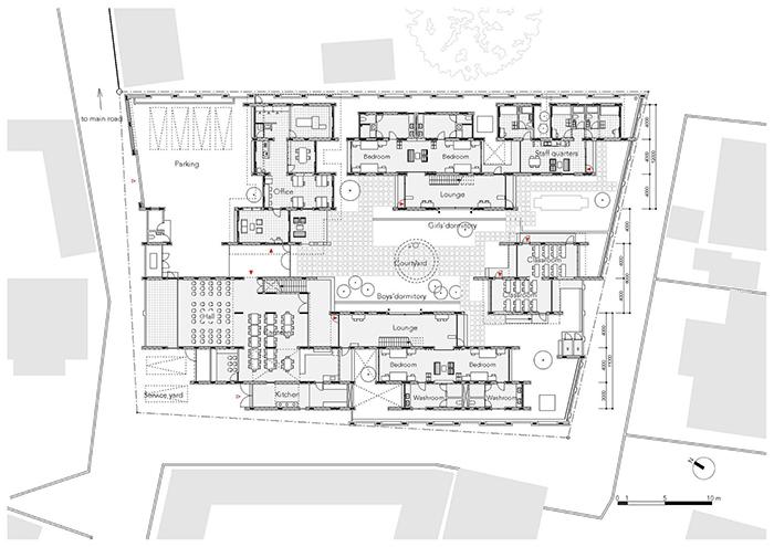 Ashinaga Uganda Dormitory Ground Floor Plan Archnet