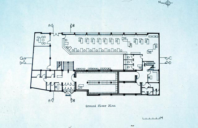 Bank Of Cairo B W Drawing Ground Floor Plan Archnet