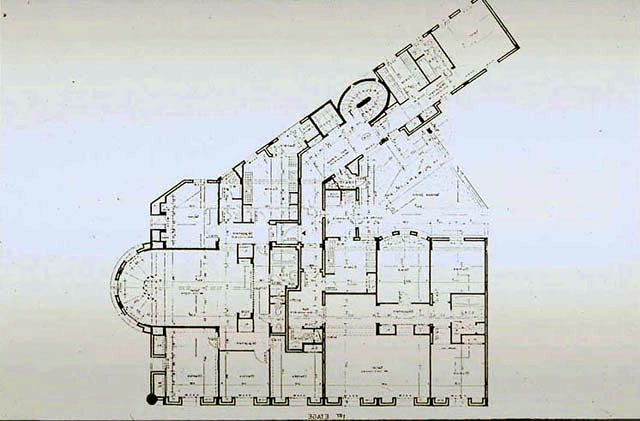 Commercial Bank Of Morocco B W Drawing Floor Plan Archnet