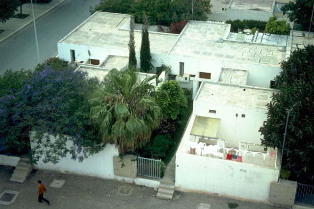 Courtyard Houses Of Agadir Bird S Eye View Of A Garden And Entry Path Archnet