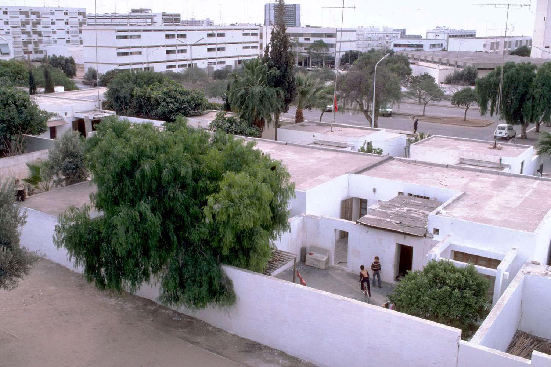 Courtyard Houses Of Agadir Bird S Eye View Of Boys In A Courtyard Archnet