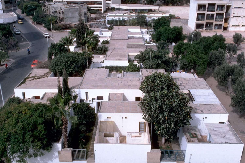 Courtyard Houses Of Agadir Baird S Eye View Of A Housing Block Archnet