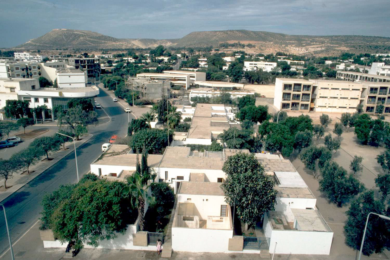Courtyard Houses Of Agadir Aearial View Of Housing Blocks With Mountains In The Background Archnet
