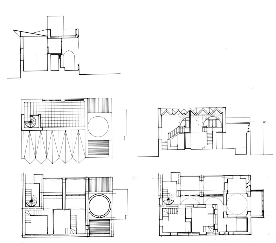 Fouad Riad House   Design drawing: sleeping area plans ...