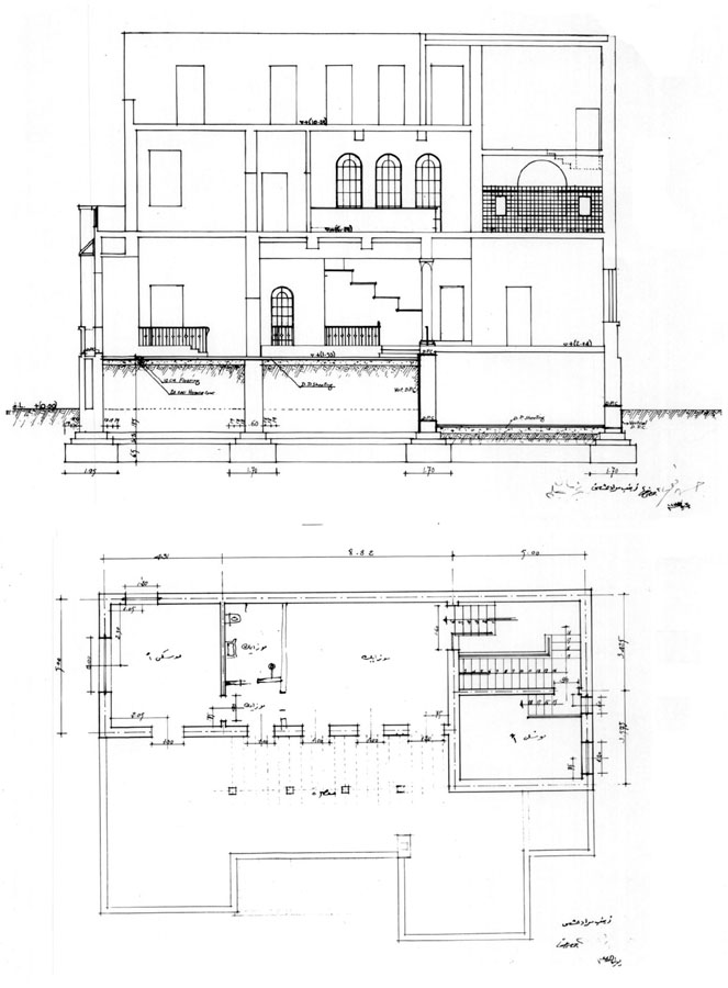 Working Drawing Second Floor Plan And Section Archnet