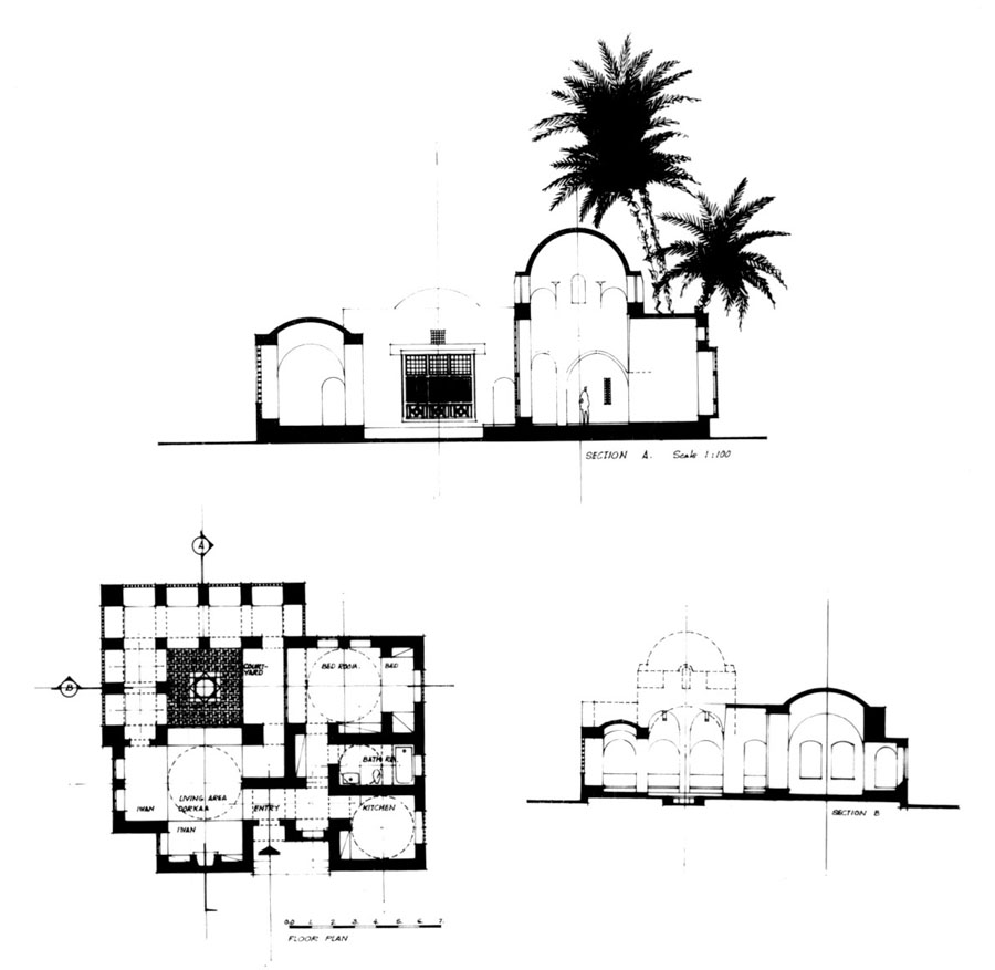 Prince Sadruddin Aga Khan House Design Drawing Ground Floor Plan 1 With Sections Archnet