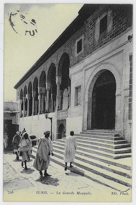 Zaytuna Mosque Tunis Jami Al Zaytuna Exterior View Of Entrance From Courtyard Tunis La Grande Mosquee Archnet