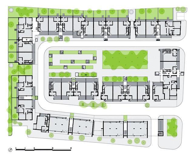 Al Baqaa Fishermen Cooperative Housing Complex Ground Floor Plan Archnet