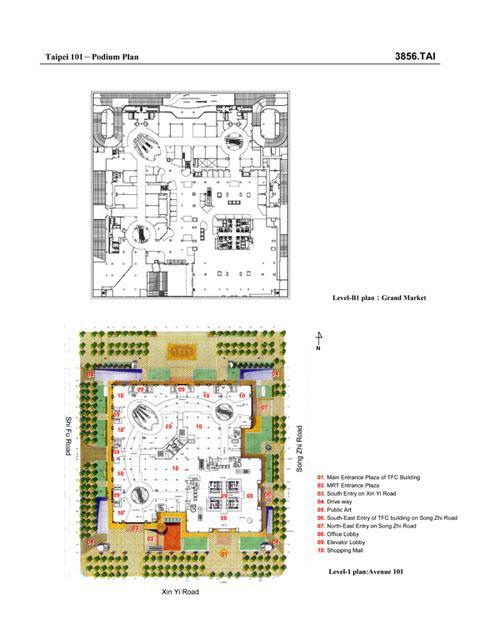 Podium Plan B1 And Ground Floor Archnet