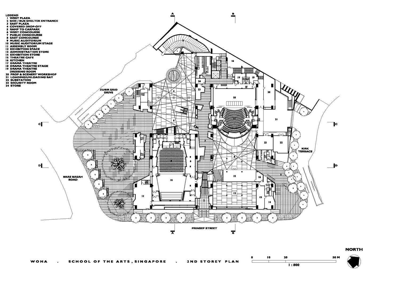 School Of The Arts Second Floor Plan Archnet