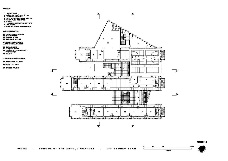 School Of The Arts Sixth Floor Plan Archnet