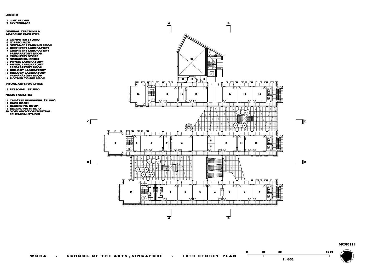 School Of The Arts 10th Floor Plan Archnet