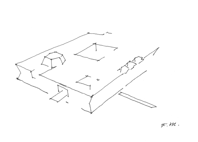 Aga Khan Museum Conceptual Sketch Of The Project By Fumihiko Maki Archnet