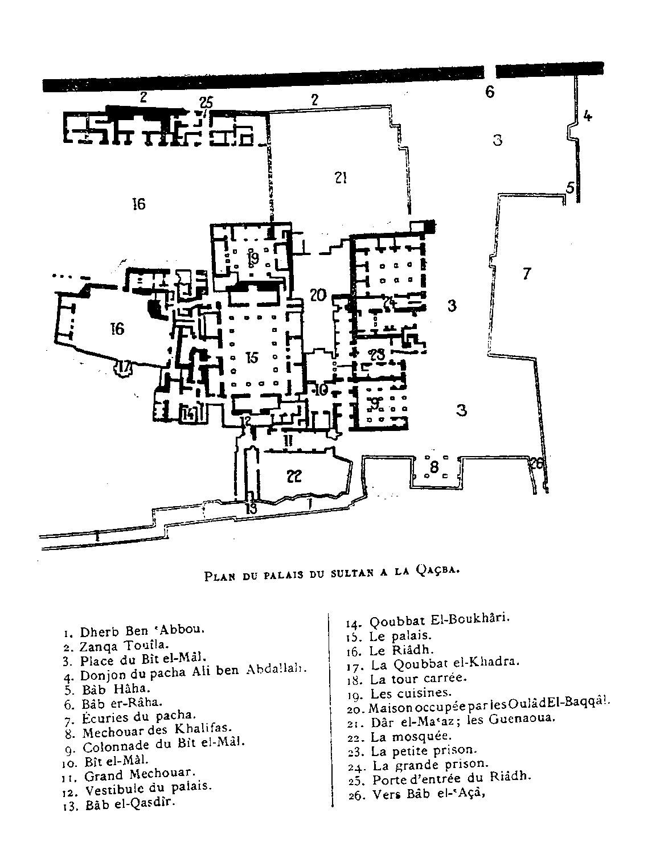 Place De Mechouar Plan Of The Qasba Archnet