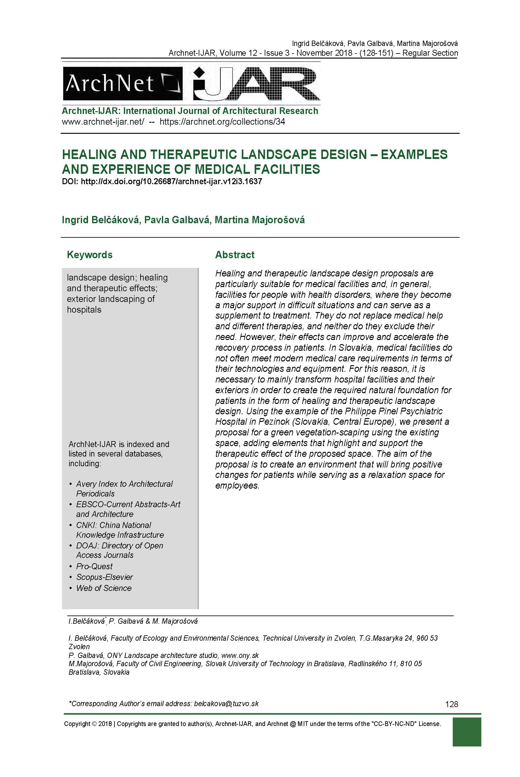Healing And Theraputic Landscape Design Examples And Experience Of Medical Facilities Archnet