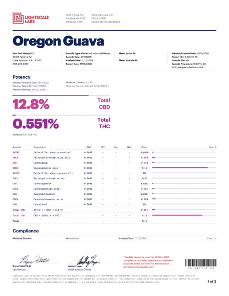 Oregon Guava COA Pg1