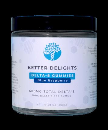 Delta-8 Gummies Blue Raspberry