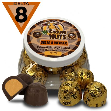 Delta-8 Peanut Butter Chocolate Truffles