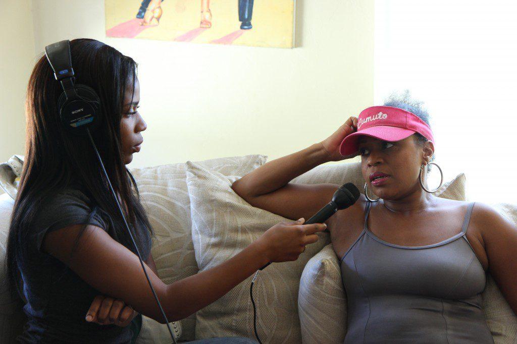 Youth Radio reporter Onaja Waki interviews her mother, Oneida Cordova.