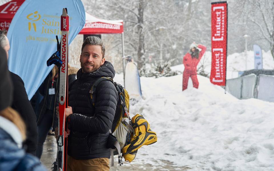 Triathlon Dhiver 2018 Participant Skieur Partenaire Presentateur Intact